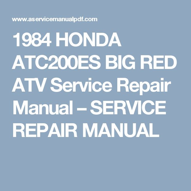 Pin by jdmmdy on 1984 honda atc200es big red atv service repair pin by jdmmdy on 1984 honda atc200es big red atv service repair manual pinterest repair manuals atv and honda fandeluxe Image collections