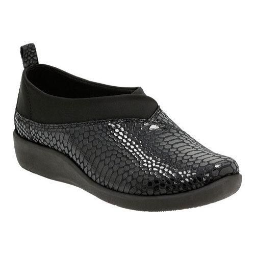 Women's Clarks Sillian Greer Slip-On Snake Synthetic Nubuck