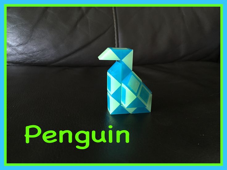 Smiggle Snake Puzzle (Rubik's Twist): How To Make A Penguin Tutorial Video.  Check out the new Facebook Page where you will find images of all Antoine's video tutorials to date together with links to all his videos. Click the 'Like' button to see his Facebook posts when he uploads new videos https://www.facebook.com/AntoineTutorials :)