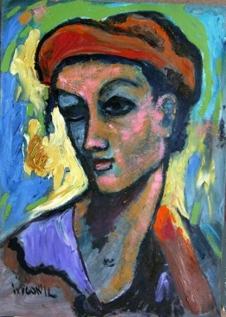 Woman in Red Hat - Картина ©2012 - Ixygon -