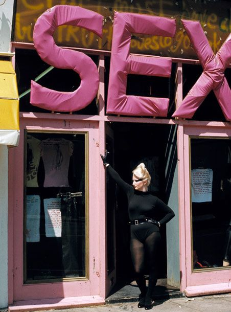 'Punk fashion and all its associated styles. The SEX boutique on King's Road owned by Malcolm McLaren and Vivienne Westwood heavily influenced the style of this movement. Their label, Seditionaries, embodied all that was punk in the Seventies.'