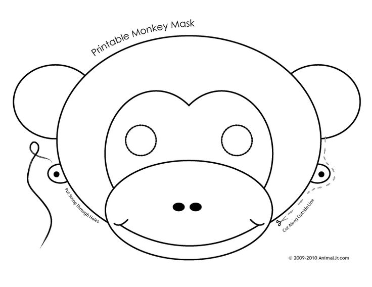 12 best majom images on Pinterest Monkey mask, Animal masks and - face masks templates