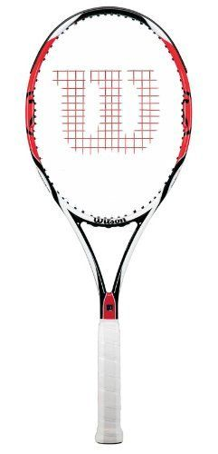 Wilson K Factor 6.1 95 16x18 Tennis Racquet 4 3/8-Unstrung by Wilson. Save 45 Off!. $119.95. An all time favorite, the (K) Six. One 95 has incredible precision through the integration of [K]arophite Black, giving all players [K]ommand of their game.String Pattern: 16 x 18Grip Size: 4 1/8