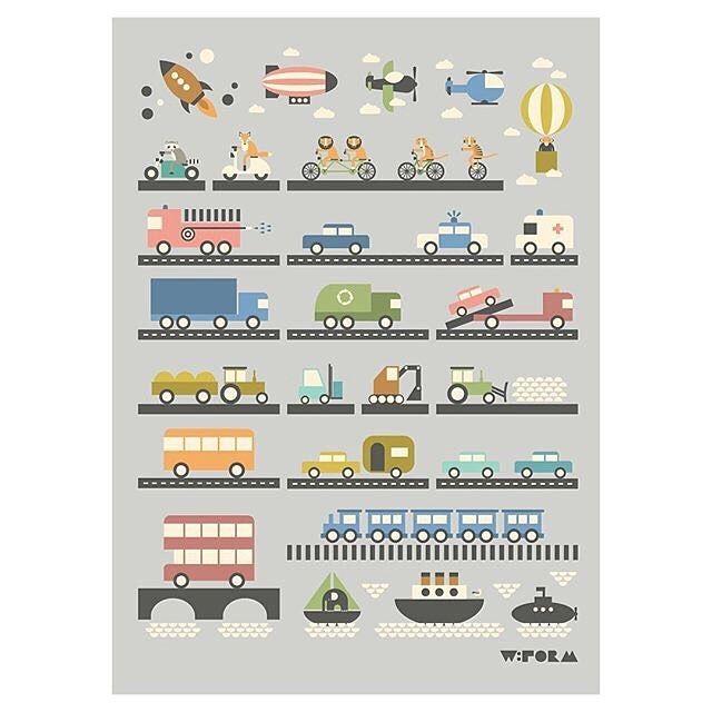 w:form poster Vehicles 50x70cm  www.wform.dk/webshop  #wform #alphabetprint #barnrum #barnerom #børneværelse #ubarnrumsinredning #childsroom #kidsinterior #kidsroom #abcplakat #abc #interior #interiør #inredning #illustration #illustrations  #alfabetet #alfabet #vehicles #kinderkamer #kinderzimmer #babyzimmer #babykamer #brandbil #brannbil #barnrumsinspo