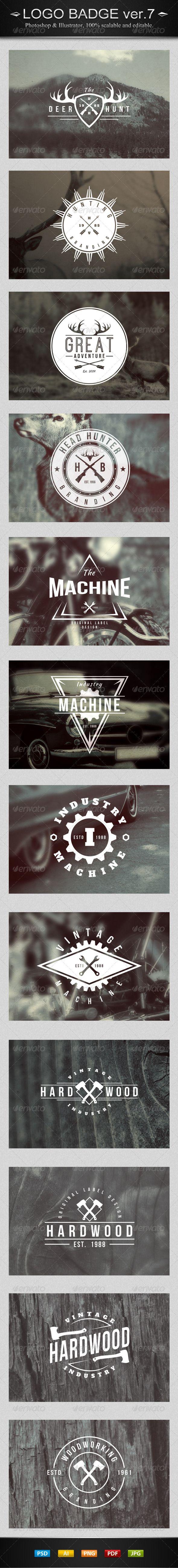 12 Vintage Logo Badges Template | Buy and Download: http://graphicriver.net/item/12-vintage-logo-badges-ver7/7880588?WT.ac=category_thumb&WT.z_author=SuperPencil&ref=ksioks