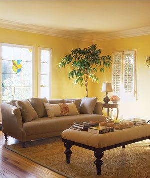 25 best ideas about tan couches on pinterest tan couch for Living room yellow walls