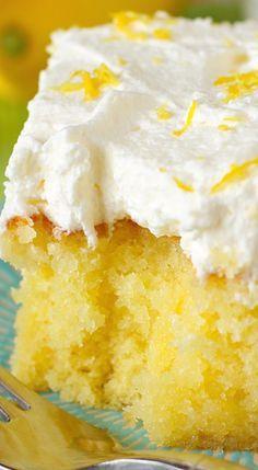 Drenched Lemon Cream Cake.
