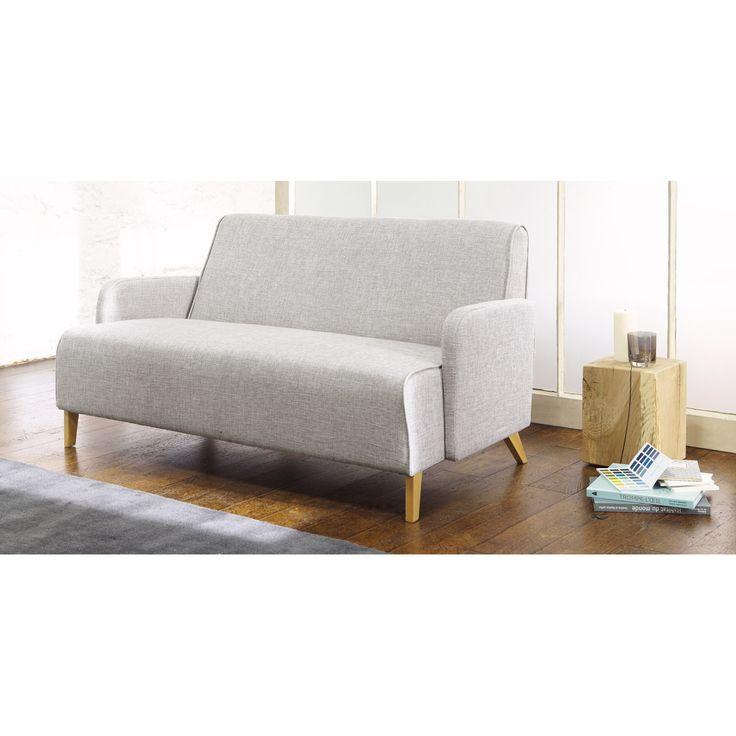 Canapé 2 places gris clair ADAM