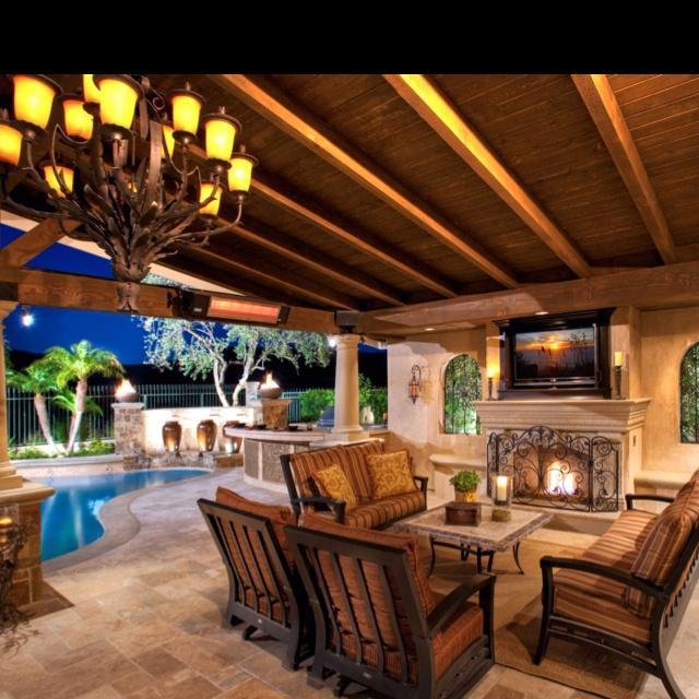 Exterior Comfort: Patio Room, Dream House, Outdoor Patio, Outdoor Rooms Patio, Covered Patios, Outdoor Spaces, Landscape, Fireplace, Design