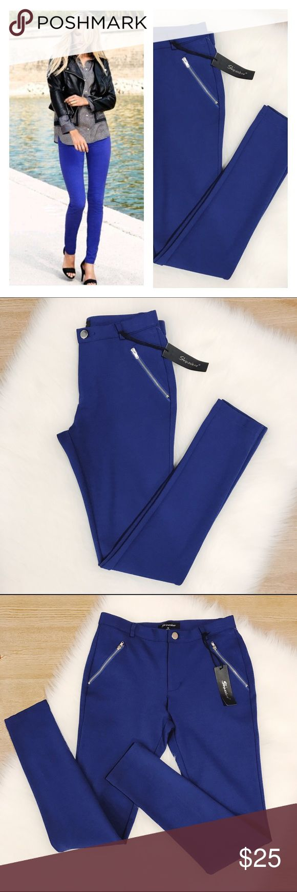 SALEShinestar Royal Blue Stretchy Leggings Gorgeous leggings in royal blue color, btand new with tags, super nice quality material, skinny fit, size Medium, ask for measurements before purchasing. shinestar Pants Leggings