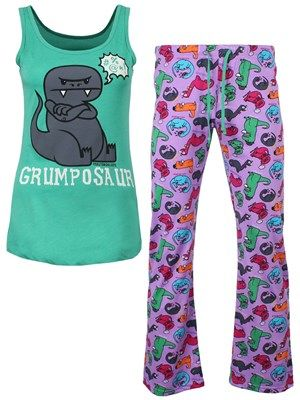 David & Goliath Grumposaur Ladies Pyjama Set #david&goliath #pyjama #dino