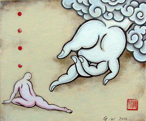 Guan Wei Buddha's Hand567*468 Acrylic on Card
