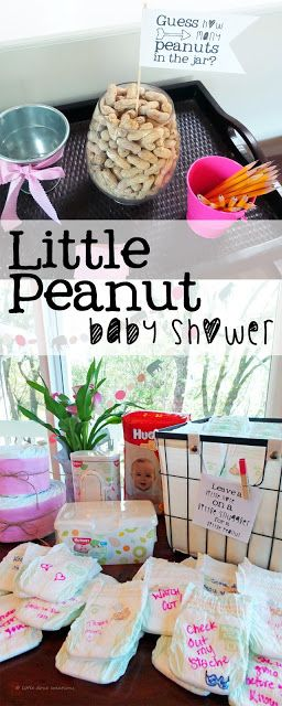Little Dove Creations: little peanut baby shower    #SkinCareForBaby ad