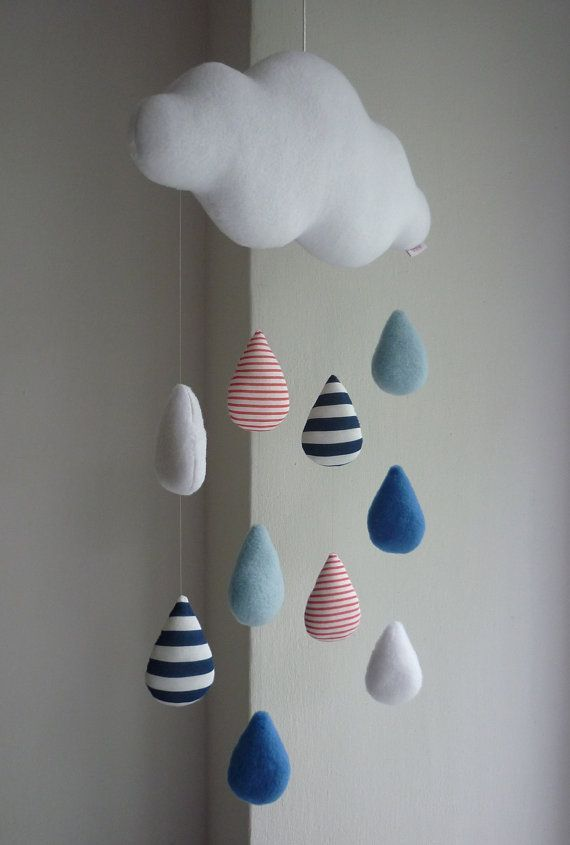 Cloud baby mobile – Rain Cloud