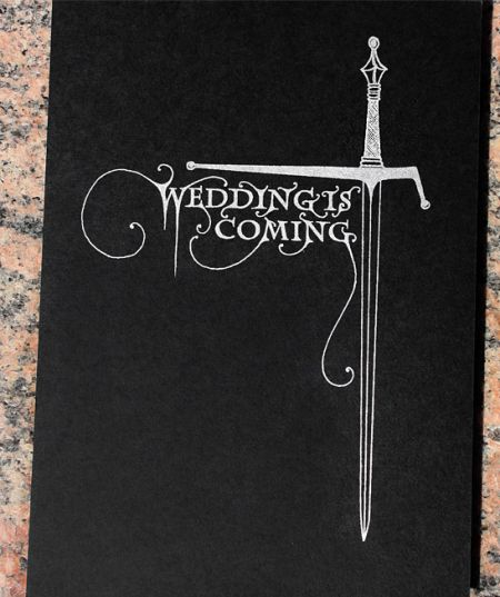 Game of Thrones Wedding Invitations from Lion in the Sun via Oh So Beautiful Paper (9)