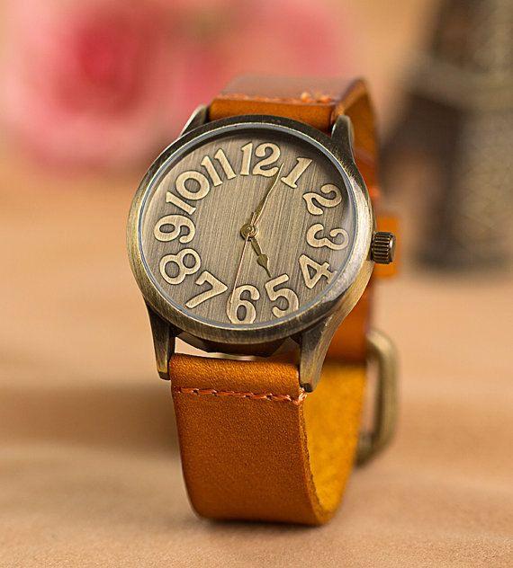 Real Leather Unisex Watch for men and women, handmade Rero Wrap Watch, Wrist women Watch, Female Watch