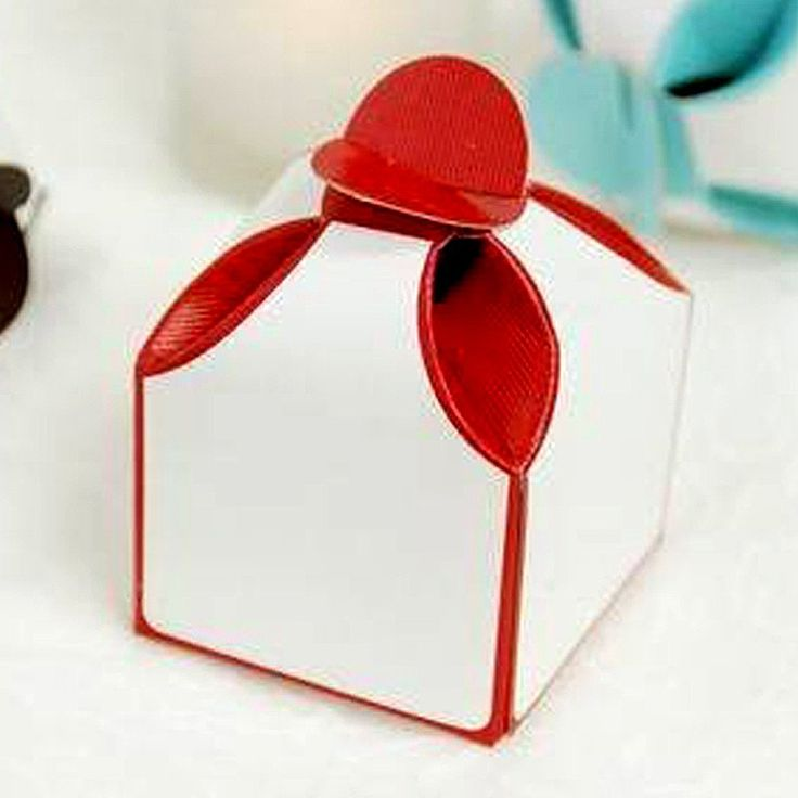 100 PCS Dual Tone Red Bridal Shower Party Favor Gift Boxes