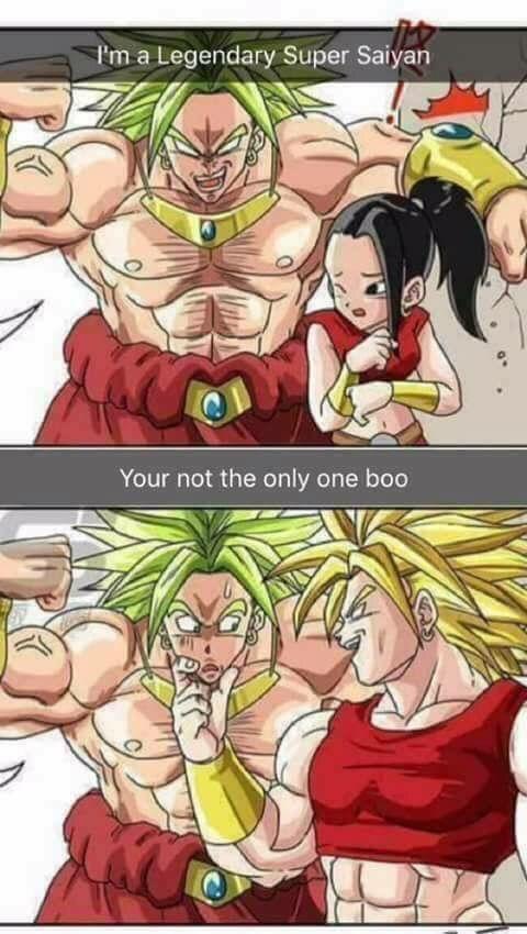 Your not the only legendary super saiyan | Anime Amino (Broly eu sou o lendário ssj Kale vc não é o único)