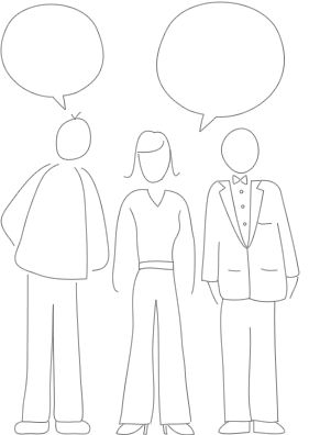 Ilustración de encuestas de clientes y consumidores