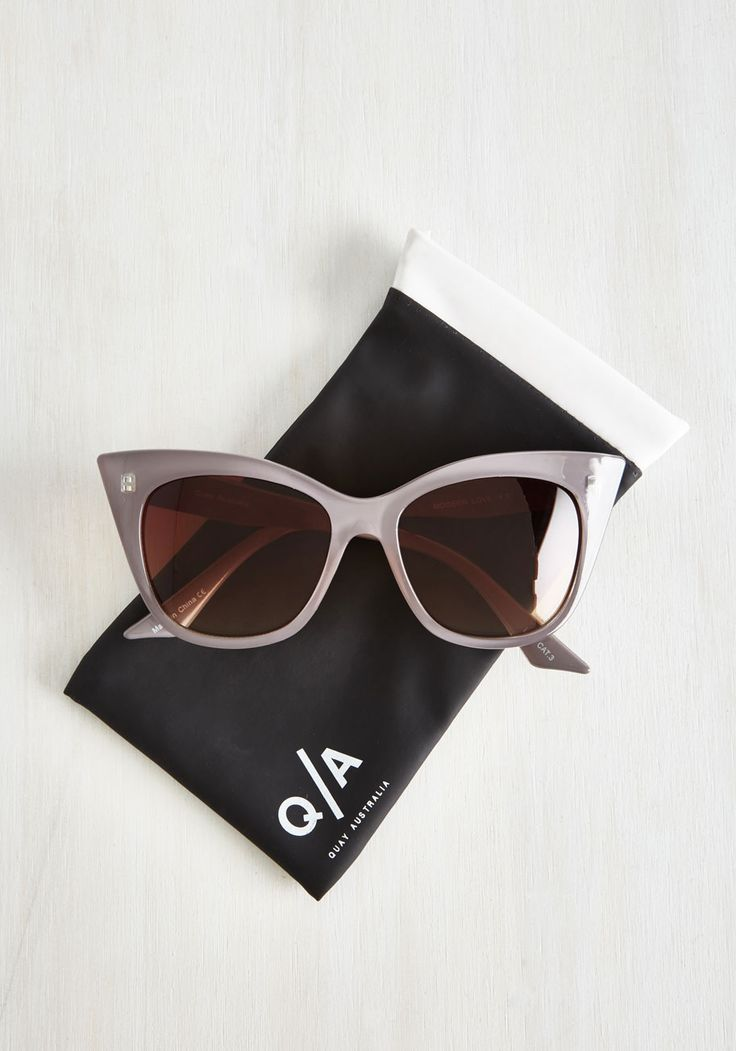 """Luxe-y For You Sunglasses in Taupe. The suns out in full force, but youre poshly prepared in these Modern Love sunglasses by Quay! <a class=""""pintag"""" href=""""/explore/grey/"""" title=""""#grey explore Pinterest"""">#grey</a> <a class=""""pintag searchlink"""" data-query=""""#modcloth"""" data-type=""""hashtag"""" href=""""/search/?q=#modcloth&rs=hashtag"""" rel=""""nofollow"""" title=""""#modcloth search Pinterest"""">#modcloth</a>"""