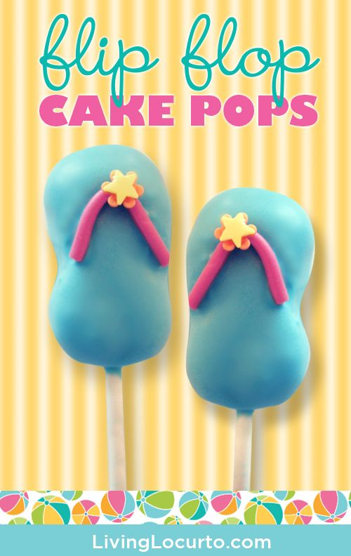 Easy Flip Flop Cake Pops Tutorial by Evie & Mallow for LivingLocurto.com