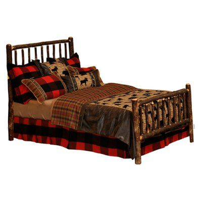 Fireside Lodge Hickory Traditional Panel Bed, Size: California King - 80010RM-CK, Durable