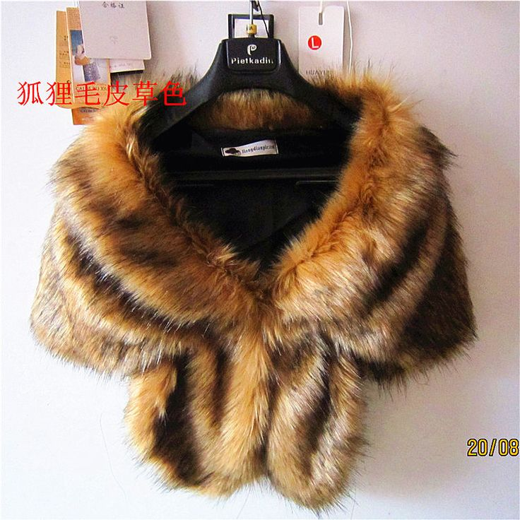 Luxury Faux Fur Collar Wedding Coat Shawl Women Approximate