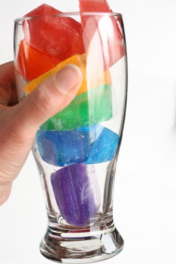 Rainbow Water!  A fun and easy St. Patrick's Day drink for kids! (hint:  All you need is water!) - Happy Hooligans