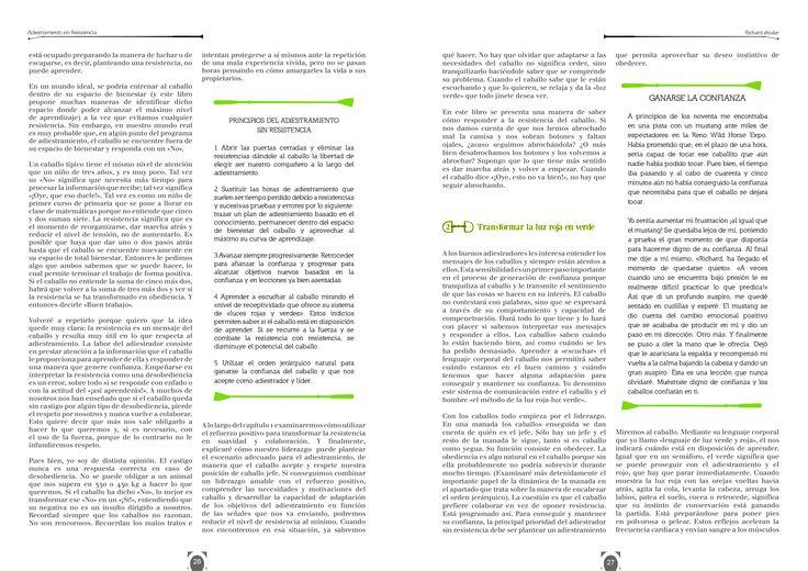 Diseño editorial: conceptualización bajo el contenido del libro. (En equipo con Ronald Restrepo) Tema: pedagogía en la adiestración equina. Texto y fotografías obtenidas del libro original.