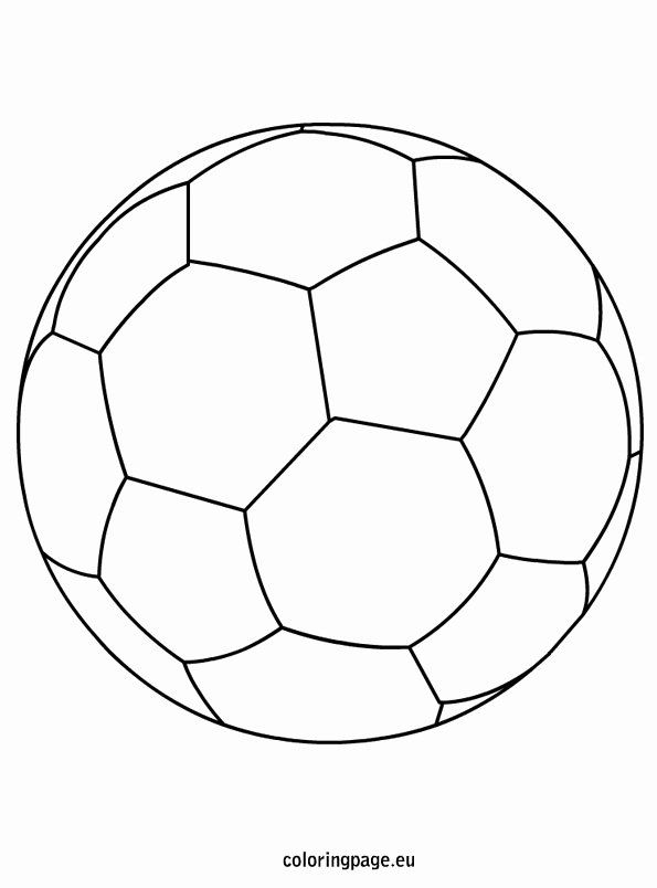 Soccer Ball Coloring Page Awesome Soccer Ball Coloring Page