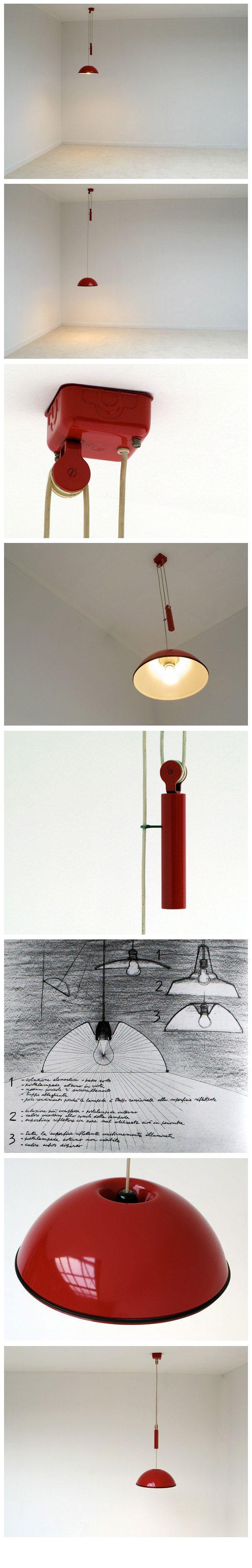 PIER GIACOMO CASTIGLIONI e ACHILLE lampada RELEMME by FLOS sketch and handwrithing by PIER GIACOMO CASTIGLIONI