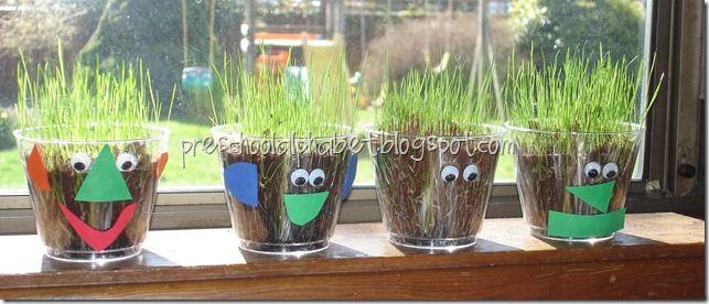 growing grass - g week: Crafts Ideas, Growing Grass, Education Ideas, Cute Ideas, Hair Cut, Kids Crafts, Grass Head, Growing Hair, Preschool Crafts