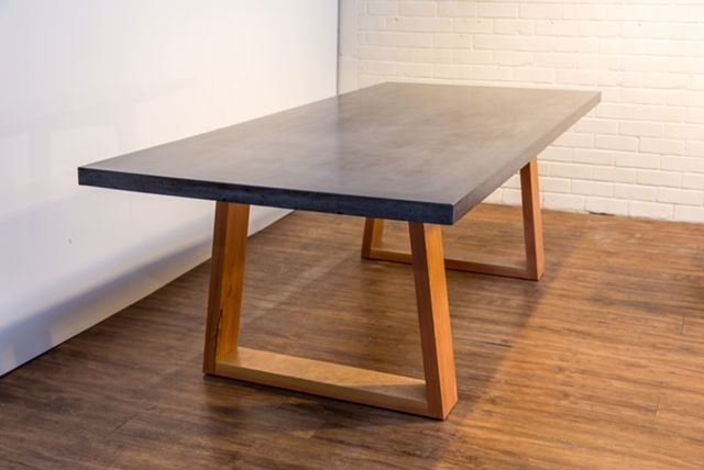 Handmade concrete dining table