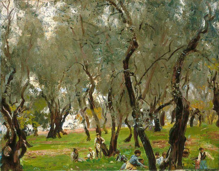 John Singer Sargent, El olivar, 1908. Óleo sobre lienzo, 56 x 73 cm. Indianapolis Museum of Art, Indianapolis, EEUU