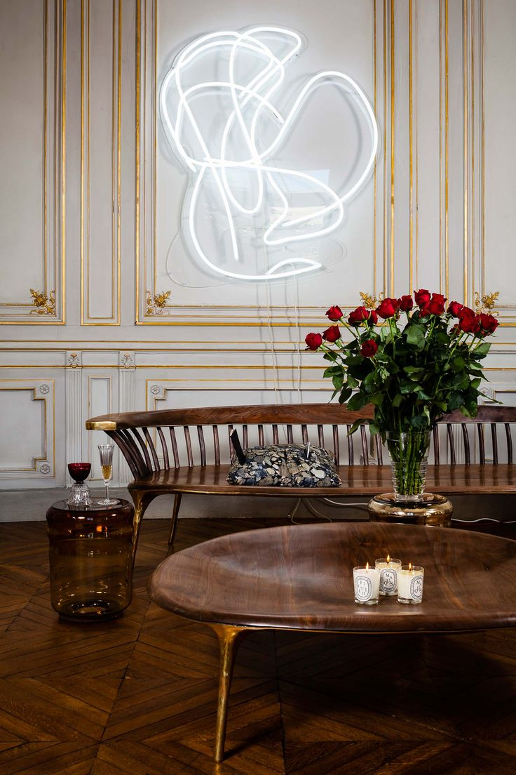 """<p>""""PRIVATE CHOICE"""" is an imagined and ephemeral contemporary collection of art and design in a gorgeous historic Parisian apartment. Last October they unfolded their 4th edition in this Haussmannian"""