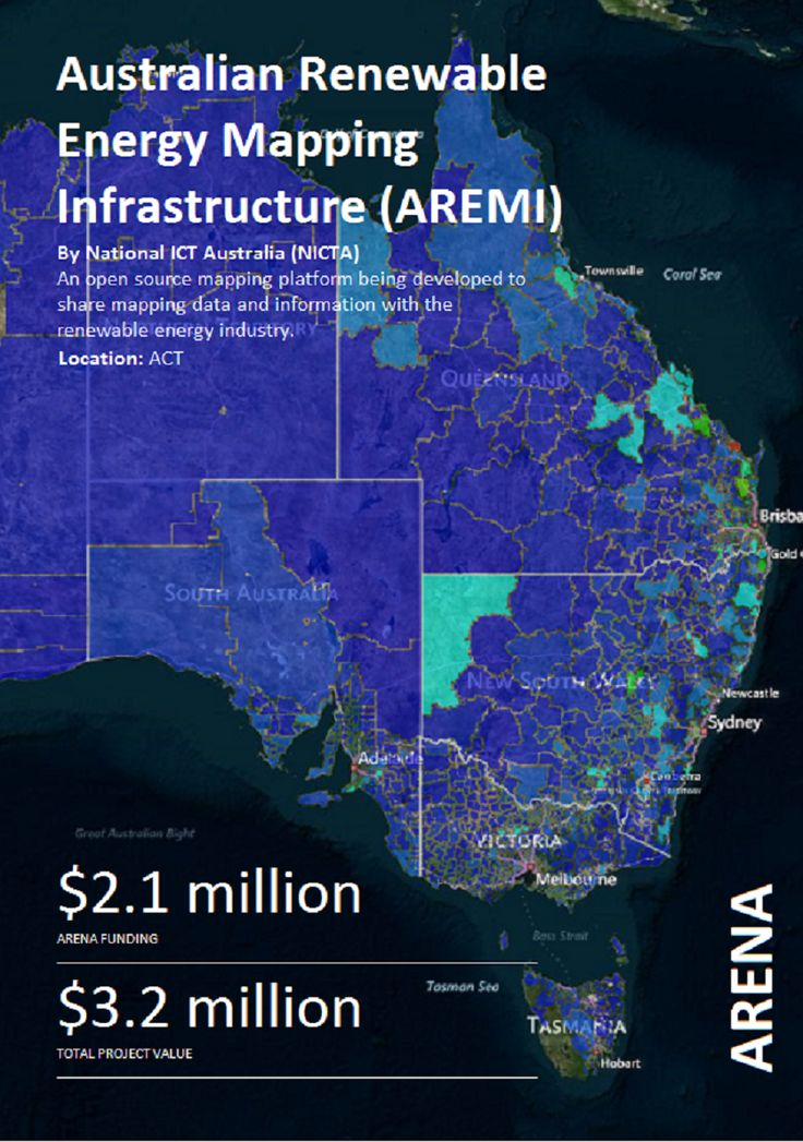 An open source mapping platform being developed to share mapping data and information with the #renewableenergy industry #ARENA_aus, Image: National ICT Australia, NICTA