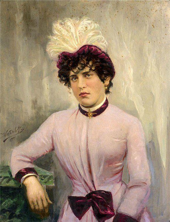 Вещилов К.А. Портрет дамы в розовом платье