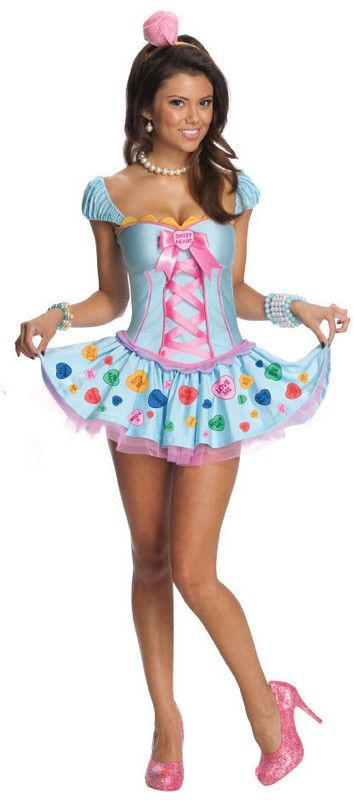 candy sweetheart sexy womans costume 3173 headpiece and dress valentines day costumes http