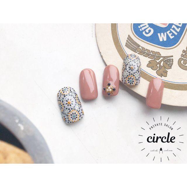 ハンド/アンティーク/エスニック/ジェルネイル/ネイルチップ - circle.nailのネイルデザイン[No.2616421]|ネイルブック