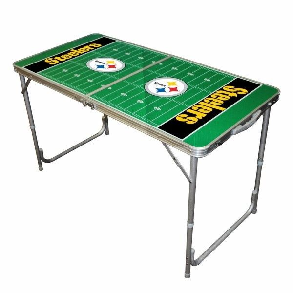 Pittsburgh Steelers Mini 4ft Ping/Water/Root Beer/Party Pong Tailgate Table  Game