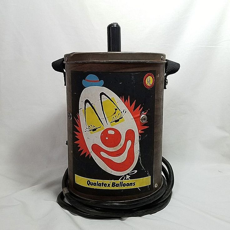 Vintage Balloon Inflator The Pioneer Rubber Company Ohio Clown  USA Late 1960's #ThePioneerRubberCompany