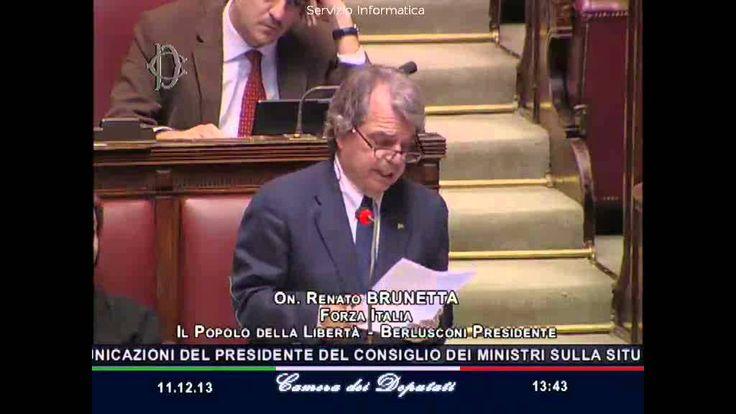 Renato Brunetta interviene alla Camera dei deputati - 11/12/2013