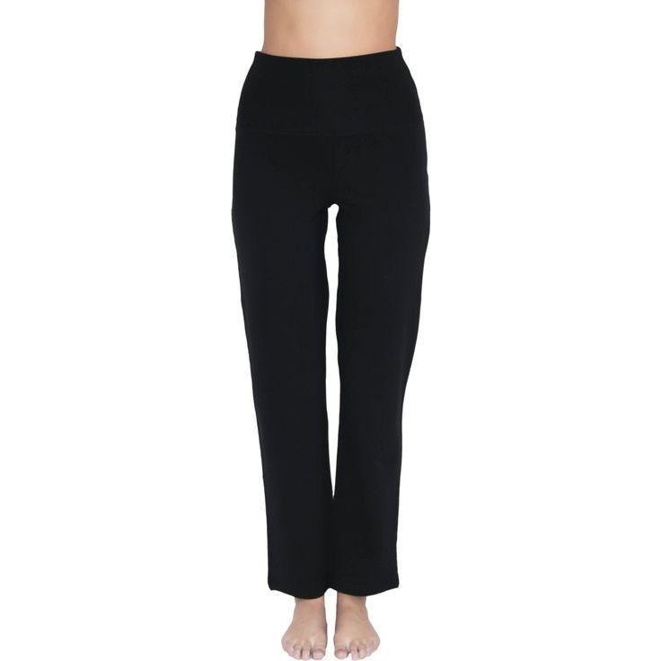 Sköna yogabyxor/träningsbyxor/mysbyxor med extra hög midjemudd och raka ben. Den nya modellen med raka ben har snabbt blivit en storsäljare med tanke på des