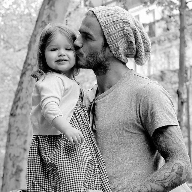 Hot dad alert! Adopt me Becks? Celebrating #uberdads #fathersday2015 #uberkate