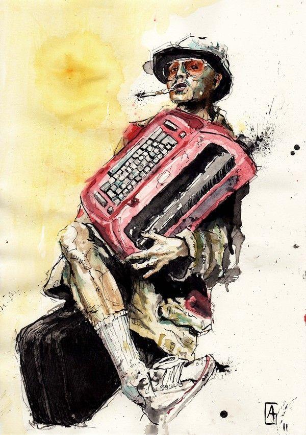 Johnny Depp as Hunter S. Thompson Illustration
