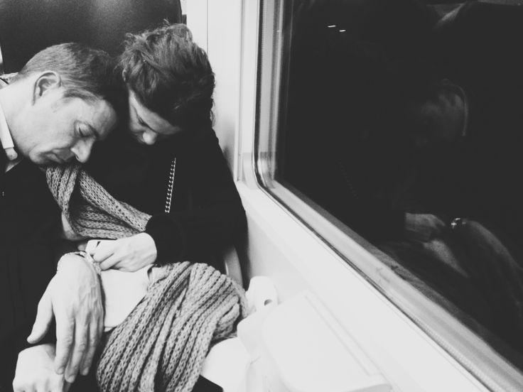 Couple in Venice train