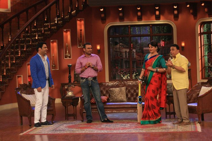 Virender Sehwag and Sunil Gavaskar on the pitch of Comedy Nights with Kapil. more news and updates of comedy nights with kapil visit us: #getmovieinfo