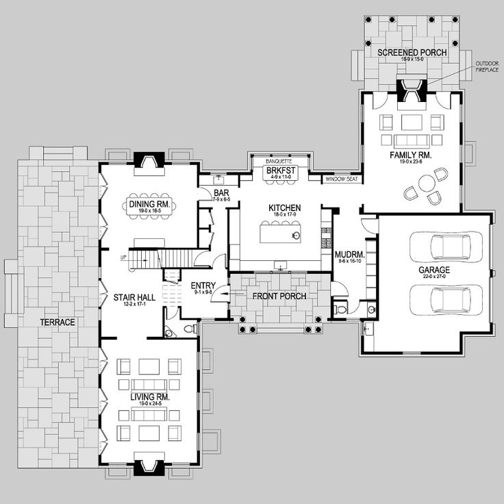 Hampton style home floor plans for Hamptons style floor plans