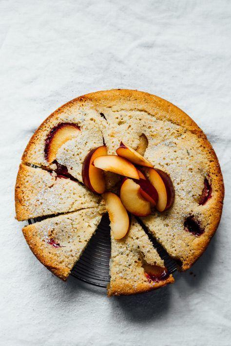 Plum and Rosemary Cake