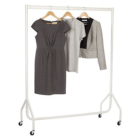 Buy John Lewis Matt White Clothes Rail Online at johnlewis.com